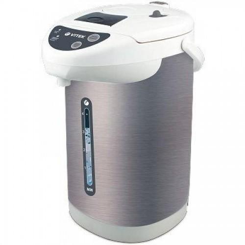 Чайник-термос Vitek VT-1196, 4л, 750Вт, нерж.сталь, белый