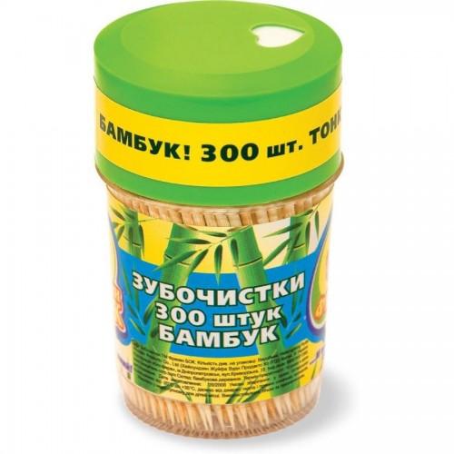 Зубочистка Фреккен Бок, бамбук, 300шт/банка