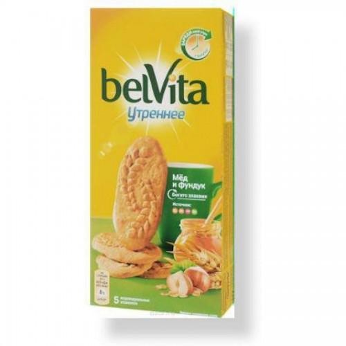 Печенье Belvita Утреннее Мёд и фундук, 225 г