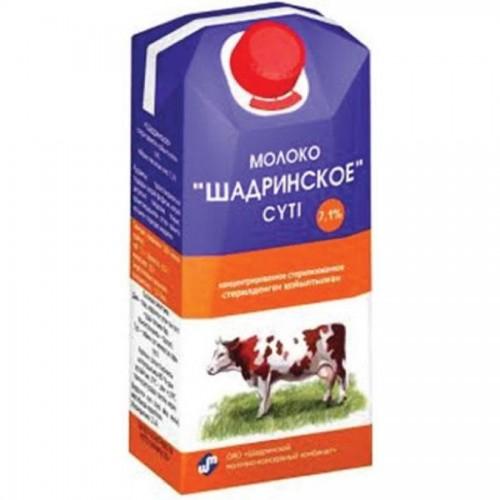 Молоко концентрированное Шадринское 7,1%, 300 мл, тетрапакет