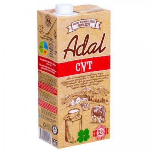 Молоко Adal 3,2% жирности, 0,95 л