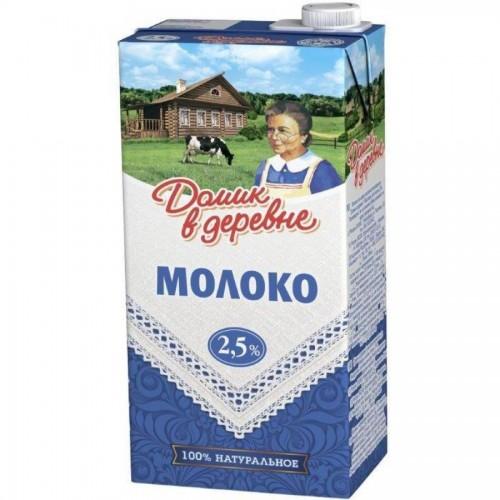 Молоко Домик в деревне, 2,5% жирности, 0,95 л