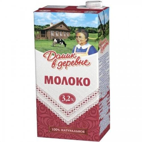 Молоко Домик в деревне, 3,2% жирности, 0,95 л