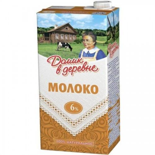Молоко Домик в деревне, 6% жирности, 0,95 л