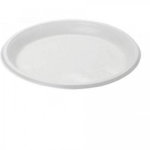 Тарелка одноразовая десертная, Мистерия, d167 мм, 100 шт/уп, белый