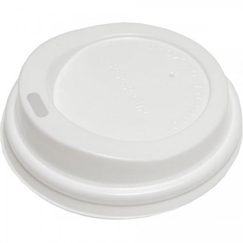 Крышка пластмассовая для однораз. стаканов, 8oz 100шт (FE60020)