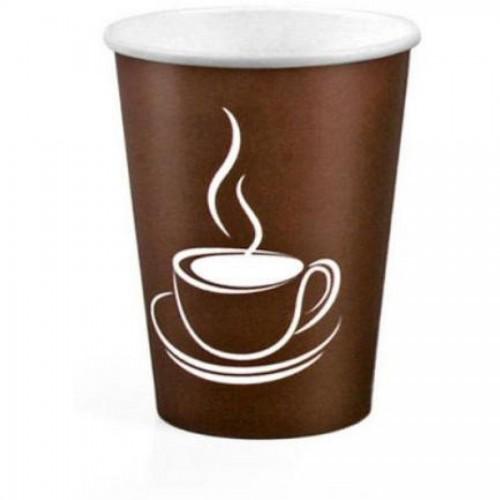 Стакан одноразовый д/гор. напитков Cup Brown, однослойн. картон, 240мл, 50шт/упак, коричн. (FE61004)