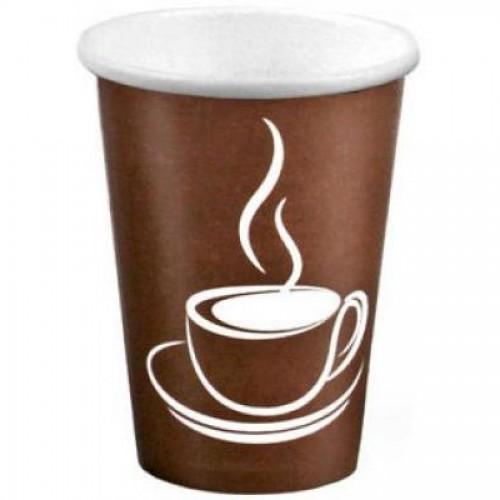 Стакан одноразовый д/гор. напитков Cup Brown,12oz 360ml, однослойн. картон, 50шт/упак, коричн. (FE6