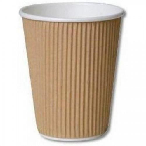 Стакан одноразовый д/гор. напитков Kraft, 3-слойн. картон, 240мл, 25шт/упак (FE63000)