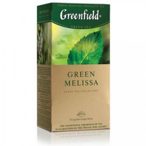 Чай зеленый Gf Melissa китайский с мелиссой, мятой и лимоном, 25х1,5г