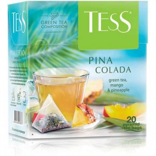Чай зеленый Tess Pina Colada, 20 х 1,8 г, пирамидки
