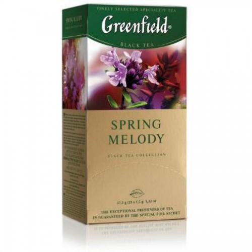 Чай черный Gf Spring Melody, индийский с душистыми травами и фруктовым ароматом, 25x1,5 г