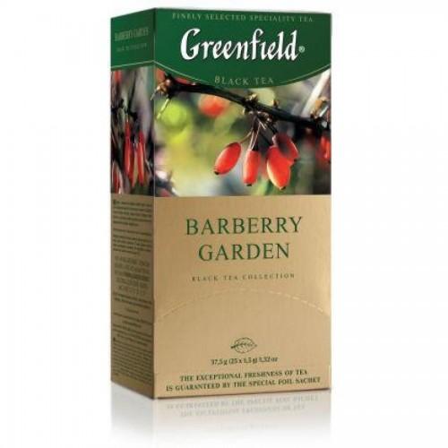 Чай черный Gf Barberry Garden, индийский с ягодами и ароматом барбариса, 25x1,5 г