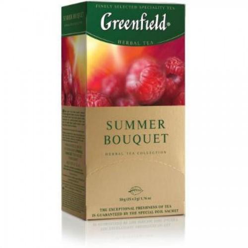 Чай травяной Gf Summer Bouquet, с ароматом малины, 25х2г