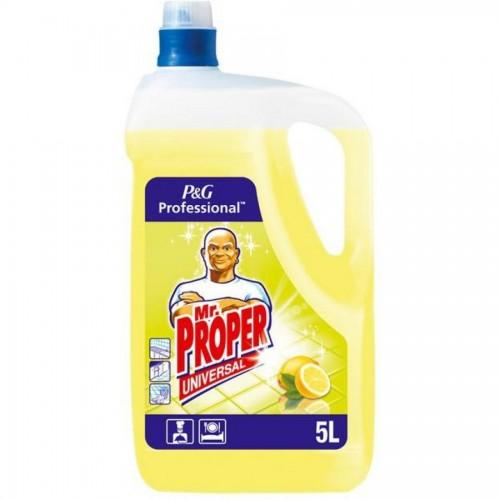 Средство моющее универсальное Мистер Пропер для полов и поверхностей, лимон, 5 л