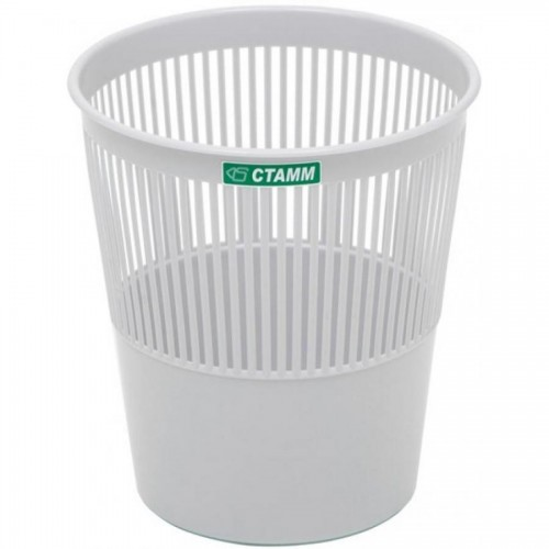 Корзина для бумаг сетчатая СТАММ КР22, 9л, серый