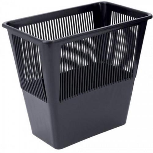 Корзина для бумаг сетчатая прямоугольная СТАММ КР31, 12л, черный