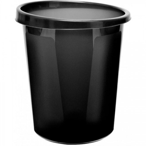 Корзина для бумаг цельная СТАММ КР60, 9л, черный