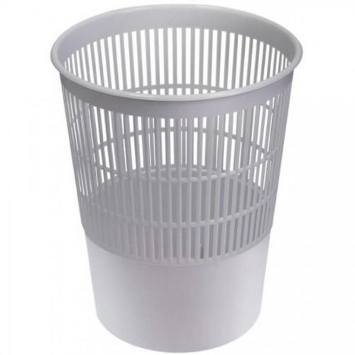 Корзина для бумаг сетчатая СТАММ КР52, 14л, серый