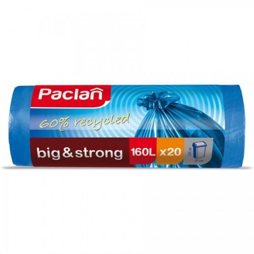 Мешки для мусора Paclan Big&Strong 160л., 20шт/уп, сверхпрочные, синий