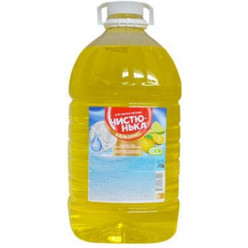 Средство для мытья посуды Чистюнька Лимон и лайм, 5л