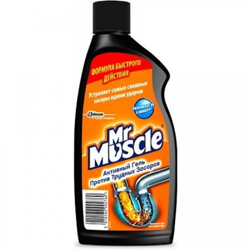 Средство для прочистки труб Мистер Мускул, гель, 500 мл.