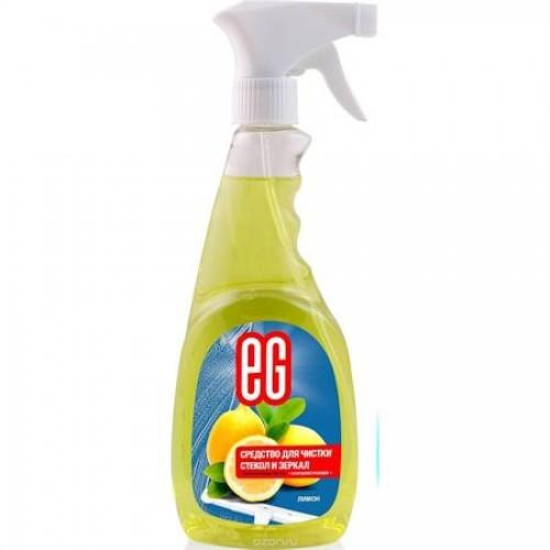 Средство для чистки стекол Еврогарант Лимон, спрей, 500 мл