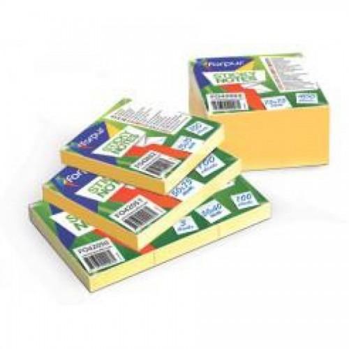 Клейкие листки EU 50х75мм, 100л, желтые