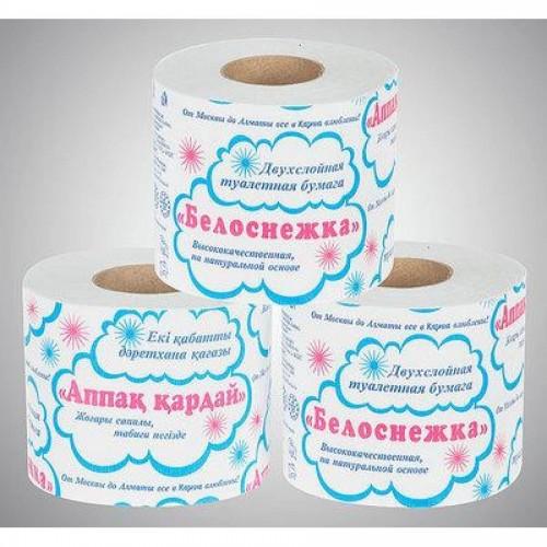 """Бумага туалетная Карина """"Белоснежка"""", 2-х слойная, белая"""