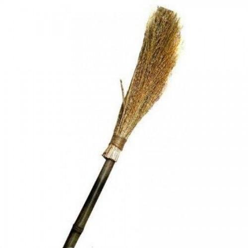 Метла чий с деревянной ручкой