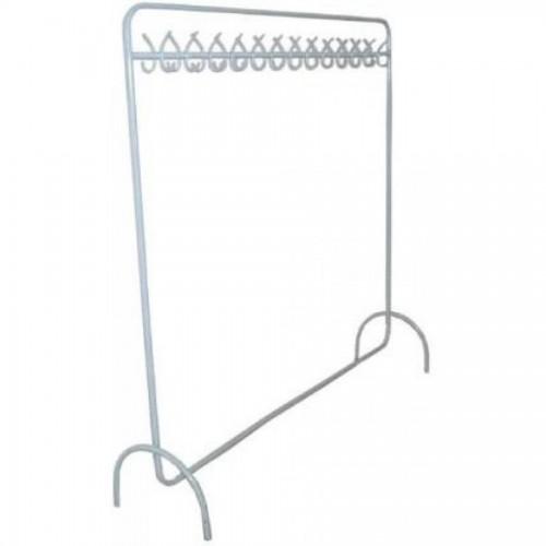 Вешалка напольная гардеробная с крючками, черный