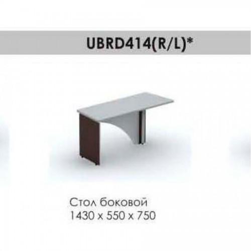Стол боковой левый Brighton UBRD414L, 1430*550*750, венге/алюминий