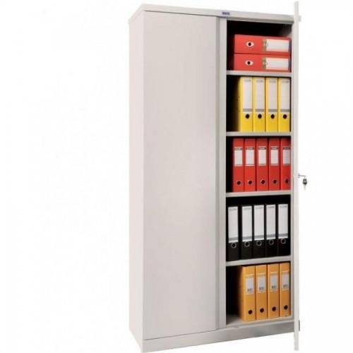 Шкаф металлический Практик М18, 1830х915х375, 4 полки, серый