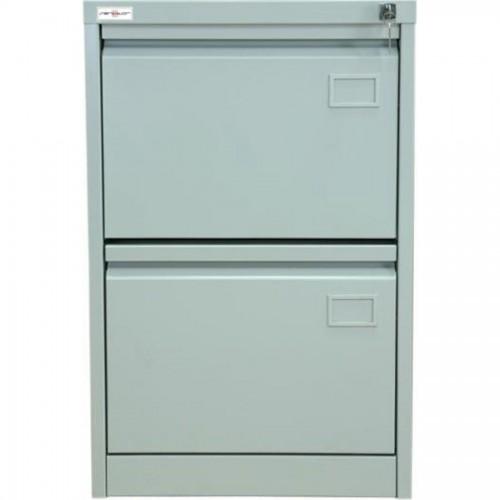 Шкаф картотечный КР-2, 715х465х630мм, 2 секции, серый