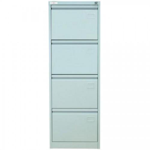Шкаф картотечный КР-4, 1335х465х630мм, 4 секции, серый