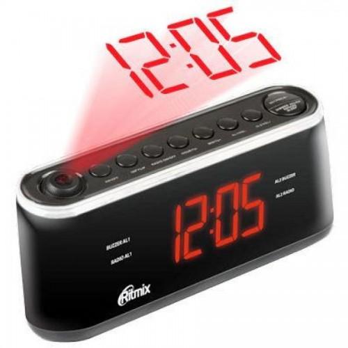 Радиочасы Ritmix RRC-1295, с проекцией, черный корпус