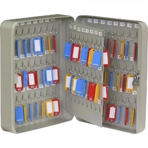 Ящик на 96 ключей с замком, КС-96, серый