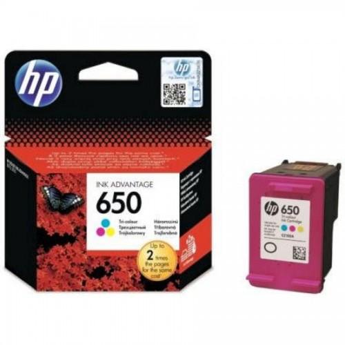Картридж HP CZ102AE для Deskjet Ink Advantage 2515/2516, №650, трехцветный
