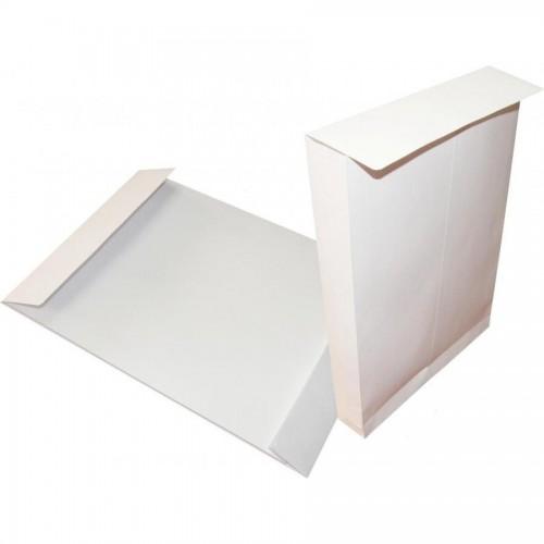 Конверт С4, 229х324мм с расширителем 40мм и отр. полосой, белый