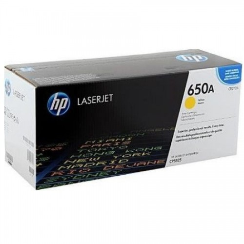 Картридж HP CE272A для HP Color LaserJet CP5525, желтый