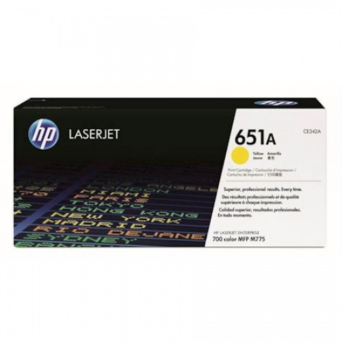 Картридж HP СE342A 651A для LaserJet 700 Color MFP 775, желтый