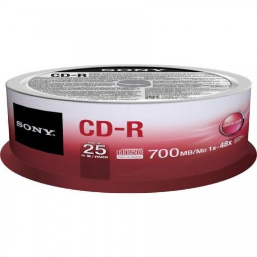 Диски записываемые CD-R Sony, 25шт/упак. 700mb