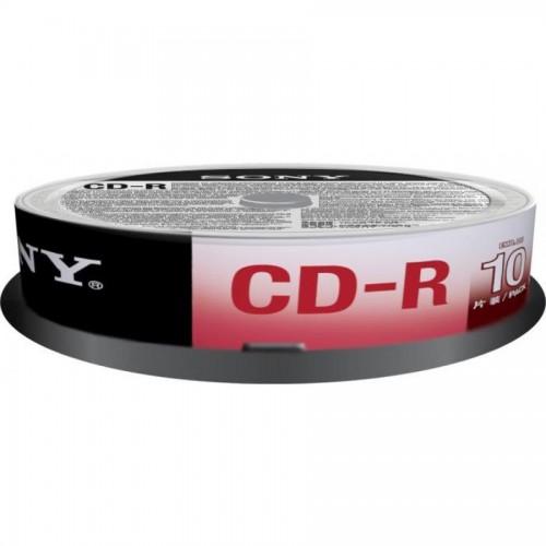 Диски записываемые CD-R Sony, 10шт/упак. 700mb