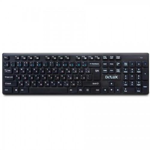 Клавиатура беспроводная Delux DLK-150GB, 2,4ГГц, 433х124х20,7мм, черный