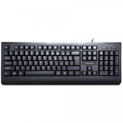 Клавиатура Delux DLK-6010UB, USB, черный
