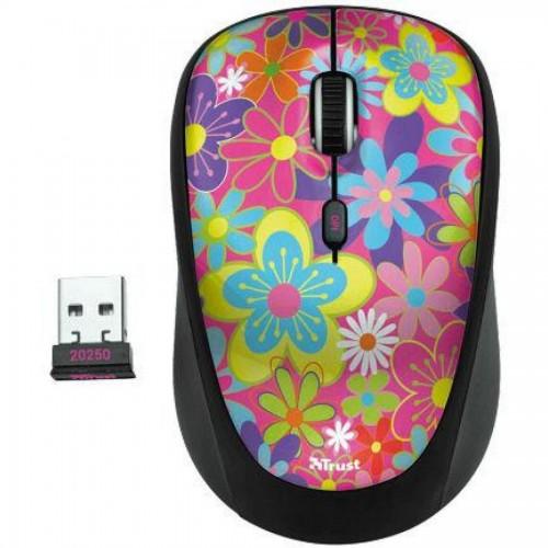 Мышь компьютерная беспроводная TRUST Yvi Flower Power, USB (20250)
