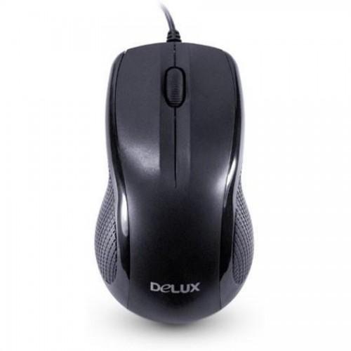 Мышь компьютерная Delux DLM-388OUB, USB, черный