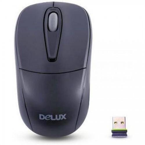 Мышь компьютерная беспроводная Delux DLM-105OGB, USB, 1000 dp, черный