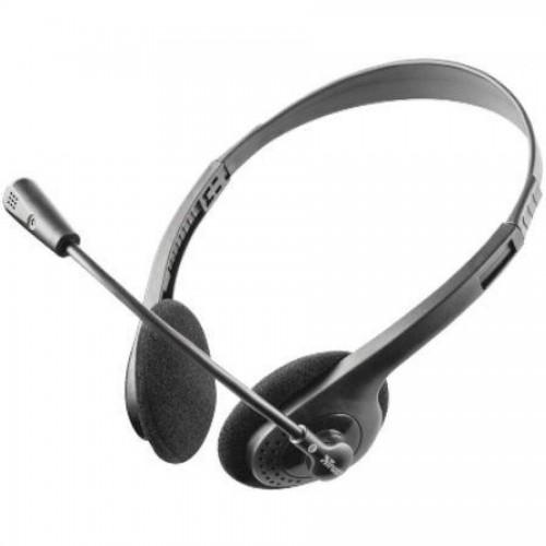 Наушники для компьютера TRUST HS-2100 с микрофоном, черный (11916)