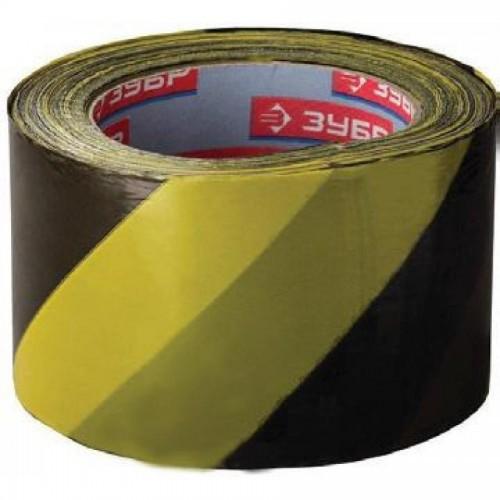 Лента сигнальная 70х200м, желто-черная